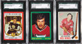 Hockey Cards:Other, 1969-70 Topps and 1973-74 O-Pee-Chee Hockey SGC Graded Cards Lot of 3....