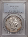 Coins of Hawaii: , 1883 $1 Hawaii Dollar XF40 PCGS. PCGS Population (108/360). NGCCensus: (37/209). Mintage: 500,000. (#10995)...