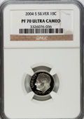 Proof Roosevelt Dimes, 2004-S 10C Silver PR70 Ultra Cameo NGC. NGC Census: (0). PCGSPopulation (268). Numismedia Wsl. Price for problem free NGC...