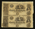 Obsoletes By State:Louisiana, New Orleans, LA- Canal & Banking Co. $20-$20 Uncut Pair. ...