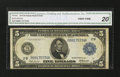 Fr. 848 $5 1914 Federal Reserve Note CGA Very Fine 20