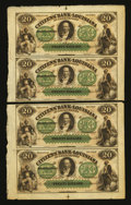 Obsoletes By State:Louisiana, New Orleans, LA- Citizens' Bank of Louisiana $20-$20 Uncut Sheet Two Examples. ... (Total: 2 sheets)