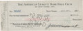 Autographs:Checks, 1927 Earle Combs Signed New York Yankees Payroll Check....