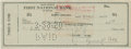 Autographs:Checks, 1950 Ty Cobb Signed Check....