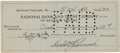 Autographs:Checks, 1943 Herb Pennock Signed Check....