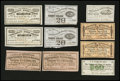 Confederate Notes:Group Lots, Confederate Bond Coupons Very Fine or Better.. ... (Total: 10 items)
