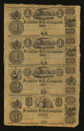 Obsoletes By State:Ohio, Franklin, OH- Franklin Silk Company $1-$1-$2-$3 Uncut Sheet . ...