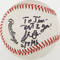 Miscellaneous Collectibles:General, Steve Forbes Single Signed Baseball....