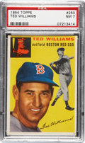 Baseball Cards:Singles (1950-1959), 1954 Topps Ted Williams #250 PSA NM 7....