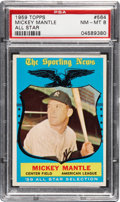 Baseball Cards:Singles (1950-1959), 1959 Topps Mickey Mantle All Star #564 PSA NM-MT 8....