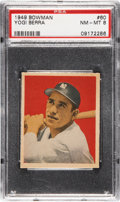 Baseball Cards:Singles (1940-1949), 1949 Bowman Yogi Berra #60 PSA NM-MT 8....