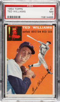 Baseball Cards:Singles (1950-1959), 1954 Topps Ted Williams #1 PSA NM 7....