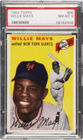 Baseball Cards:Singles (1950-1959), 1954 Topps Willie Mays #90 PSA NM-MT 8....