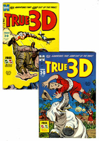 True 3-D #1 and 2 Group (Harvey, 1953-54).... (Total: 2 Comic Books)