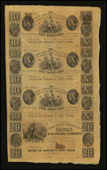 Obsoletes By State:Louisiana, New Orleans, LA- New Orleans Canal & Banking Company $10-$10-$10-$20 Uncut Sheet. ...