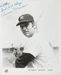 Baseball Collectibles:Photos, Thurman Munson Signed Photograph....