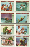 "Movie Posters:Horror, Revenge of the Creature (Universal International, 1955). Lobby CardSet of 8 (11"" X 14"").. ... (Total: 8 Items)"