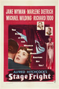 "Movie Posters:Hitchcock, Stage Fright (Warner Brothers, 1950). One Sheet (27"" X 41"").. ..."