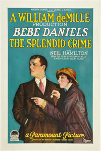"The Splendid Crime (Paramount, 1925). One Sheet (27"" X 41"")"