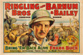 "Movie Posters:Adventure, Bring 'Em Back Alive (Ringling Bros. and Barnum & Bailey,1938). Circus Poster (28"" X 42"").. ..."