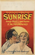 "Movie Posters:Melodrama, Sunrise (Fox, 1927). Window Card (14"" X 22"").. ..."