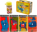 Music Memorabilia:Memorabilia, The Beatles Yellow Submarine Lunchbox and Light Switch Covers....(Total: 5 )