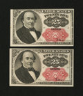 Fractional Currency:Fifth Issue, Two Fr. 1309 25¢ Fifth Issue Choice About New Notes.... (Total: 2notes)