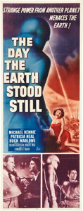 """Movie Posters:Science Fiction, The Day the Earth Stood Still (20th Century Fox, 1951). Insert (14"""" X 36"""").. ..."""