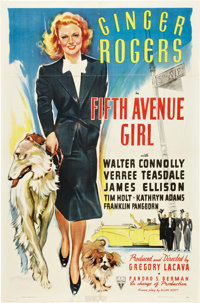 "Fifth Avenue Girl (RKO, 1939). One Sheet (27"" X 41"")"