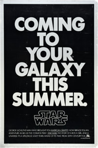 "Star Wars (20th Century Fox, 1977). One Sheet (27"" X 41"") Second Advance"