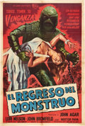 "Movie Posters:Horror, Revenge of the Creature (Universal International, 1955).Argentinean Poster (29"" X 43"").. ..."