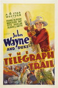 "Movie Posters:Western, The Telegraph Trail (Warner Brothers, 1933). One Sheet (27"" X41"").. ..."