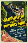 "Movie Posters:Horror, Frankenstein Meets the Wolf Man (Universal, 1943). One Sheet (27"" X41"").. ..."