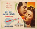 "Movie Posters:Hitchcock, Notorious (RKO, 1946). Title Lobby Card (11"" X 14"").. ..."