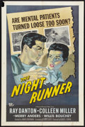 "Movie Posters:Film Noir, The Night Runner (Universal International, 1957). One Sheet (27"" X 41""). Film Noir.. ..."