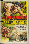 "Movie Posters:Adventure, Cannibal Attack (Columbia, 1954). One Sheet (27"" X 41"").Adventure.. ..."