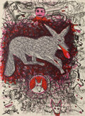 Prints, ROY DEAN DE FOREST (American, 1930-2007). Untitled (Dogs), 1981. Color lithograph . 30 x 22 inches (76.2 x 55.9 cm). Ins...