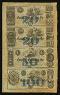 Obsoletes By State:Louisiana, New Orleans,LA- Canal & Banking Co. $20-$20-$50-$100 Uncut Sheet. ...