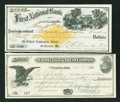 Miscellaneous:Other, Seven Canceled Checks from the 1800s.. ... (Total: 7 notes)
