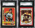 Hockey Cards:Lots, 1972-73 Topps and 1973-74 O-Pee-Chee Bobby Orr SGC Graded Cards Lotof 2....