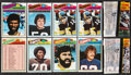 Football Cards:Lots, 1977 Topps Mexican Football Collection (98) Plus Two Wax Packs....