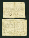 Colonial Notes:North Carolina, Two North Carolina December 15, 1757 (written date) £5.... (Total:2 notes)