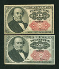 Fractional Currency:Fifth Issue, Two Fr. 1309 25¢ Fifth Issue About New Notes.... (Total: 2 notes)