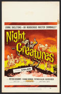 "Movie Posters:Horror, Night Creatures (Universal, 1962). Window Card (14"" X 22""). Horror.. ..."