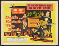 "Don't Knock the Rock (Columbia, 1957). Half Sheet (22"" X 28"") Style B. Rock and Roll"