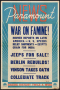 "Movie Posters:Animated, Paramount Newsreel Stock (Paramount, 1945). One Sheet (27"" X 41""). Short Subject.. ..."