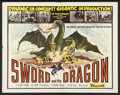 "Movie Posters:Fantasy, Sword and the Dragon Lot (Valiant Films, 1960). Half Sheet (22"" X28"") and Insert (14"" X 36""). Fantasy.. ... (Total: 2 Items)"