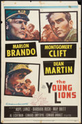 "Movie Posters:War, The Young Lions (20th Century Fox, 1958). One Sheet (27"" X 41"").War.. ..."