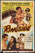 "Movie Posters:Sports, Ringside (Lippert, 1949). One Sheet (27"" X 41""). Sports.. ..."