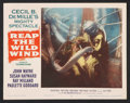"Movie Posters:Adventure, Reap the Wild Wind (Paramount, R-1954). Lobby Cards (3) (11"" X14""). Adventure.. ... (Total: 3 Items)"